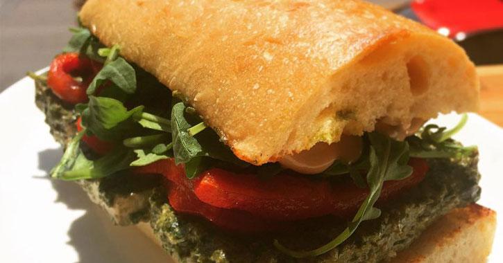 a tofu sandwich