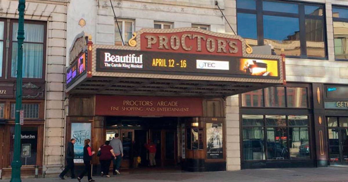 outside of proctors in schenectady