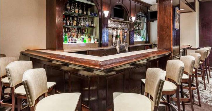 a hotel bar