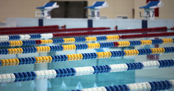 lane lines in a swimming pool