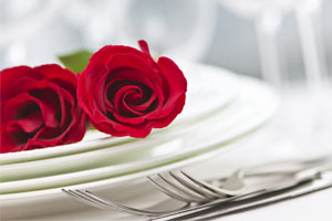 rose on a plate