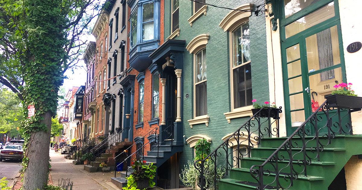 row houses on Albany street
