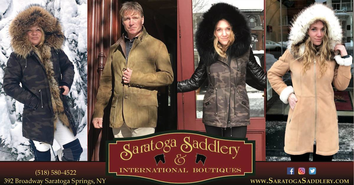 people posing in clothes on a saratoga saddlery image
