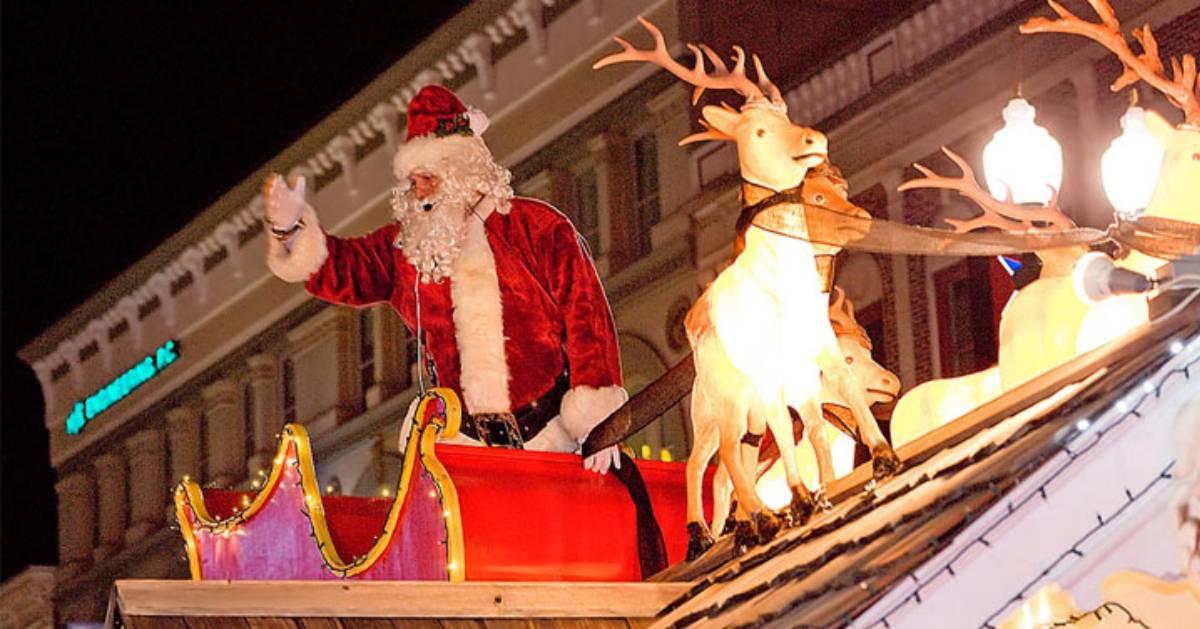 santa on a parade float