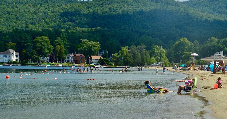 a scenic beach area