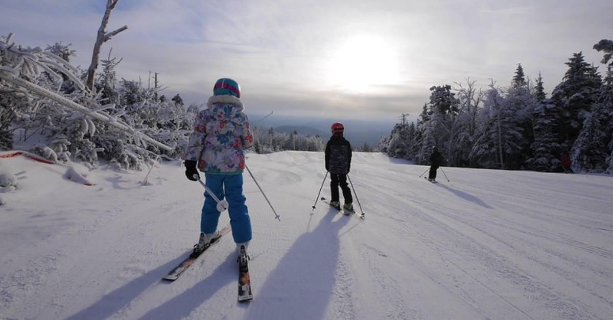 kids on ski slopes