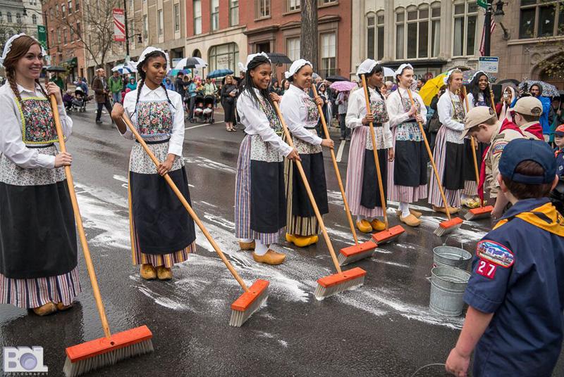 tulip festival street scrubbing