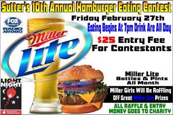 Sutter's Hamburger Eating Contest