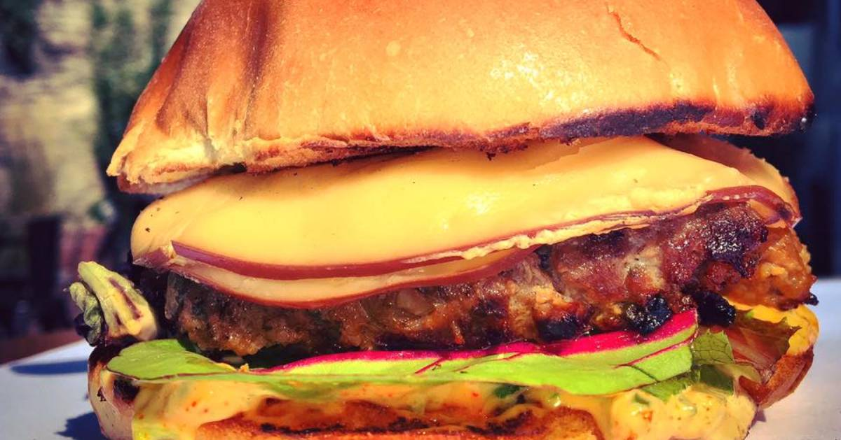 burger with thick slices of cheese