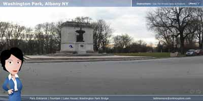 Take an Oline Tour of Washington Park in Albany NY