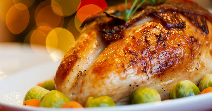 close up of roasted turkey