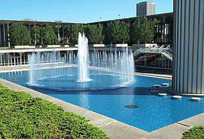 Fountain at UAlbany (SUNY Albany)