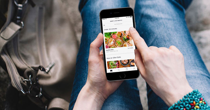 using app to order food