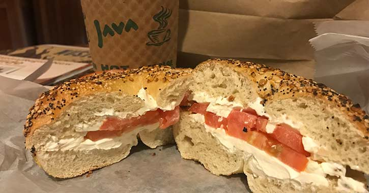 uncommon grounds bagel