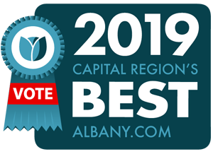 2019 capital region's best logo with vote ribbon