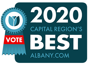 2020 capital region's best logo with vote ribbon