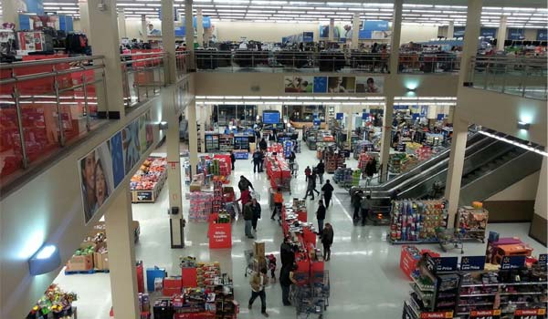 2 story view of the largest walmart located in Albany NY