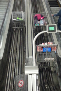 walmart cart escalator