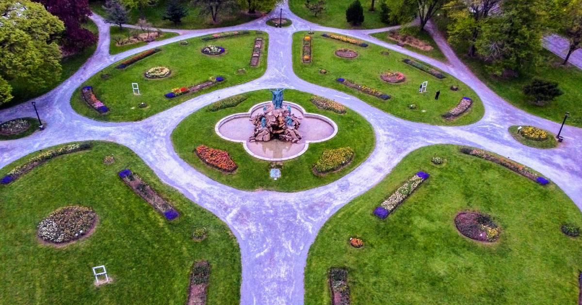 aerial view of Washington Park