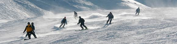Group Downhill Skiing