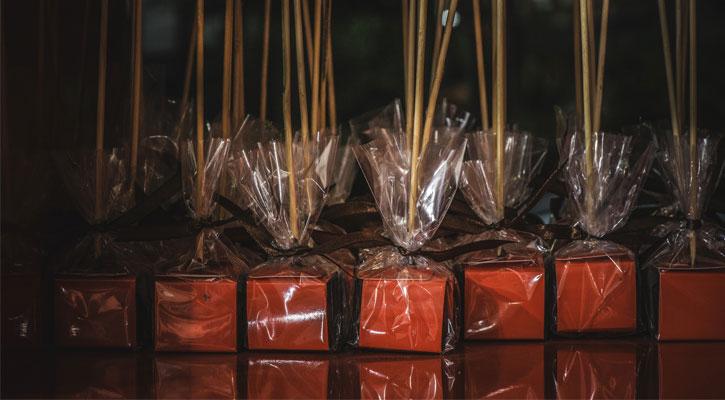 wrapped chocolate lollipops