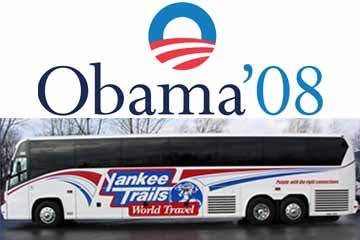 Yankee Trails Bus Trips To Barack Obama S 2009