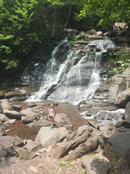 bottom waterfall of kaaterskill falls