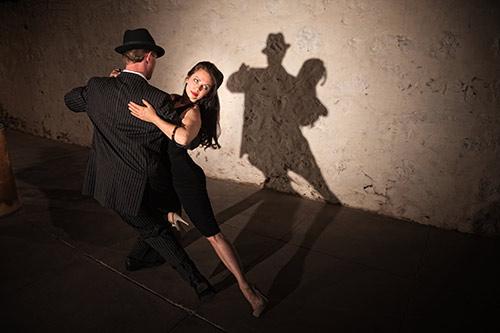 a couple doing the tango
