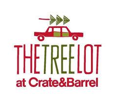 crate and barrel holiday pop up tree lot shop comes to crossgates. Black Bedroom Furniture Sets. Home Design Ideas