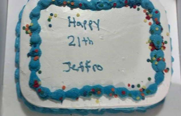 Marvelous Jeff Hoffmans Shocking 21Th Birthday Cake Funny Birthday Cards Online Ioscodamsfinfo