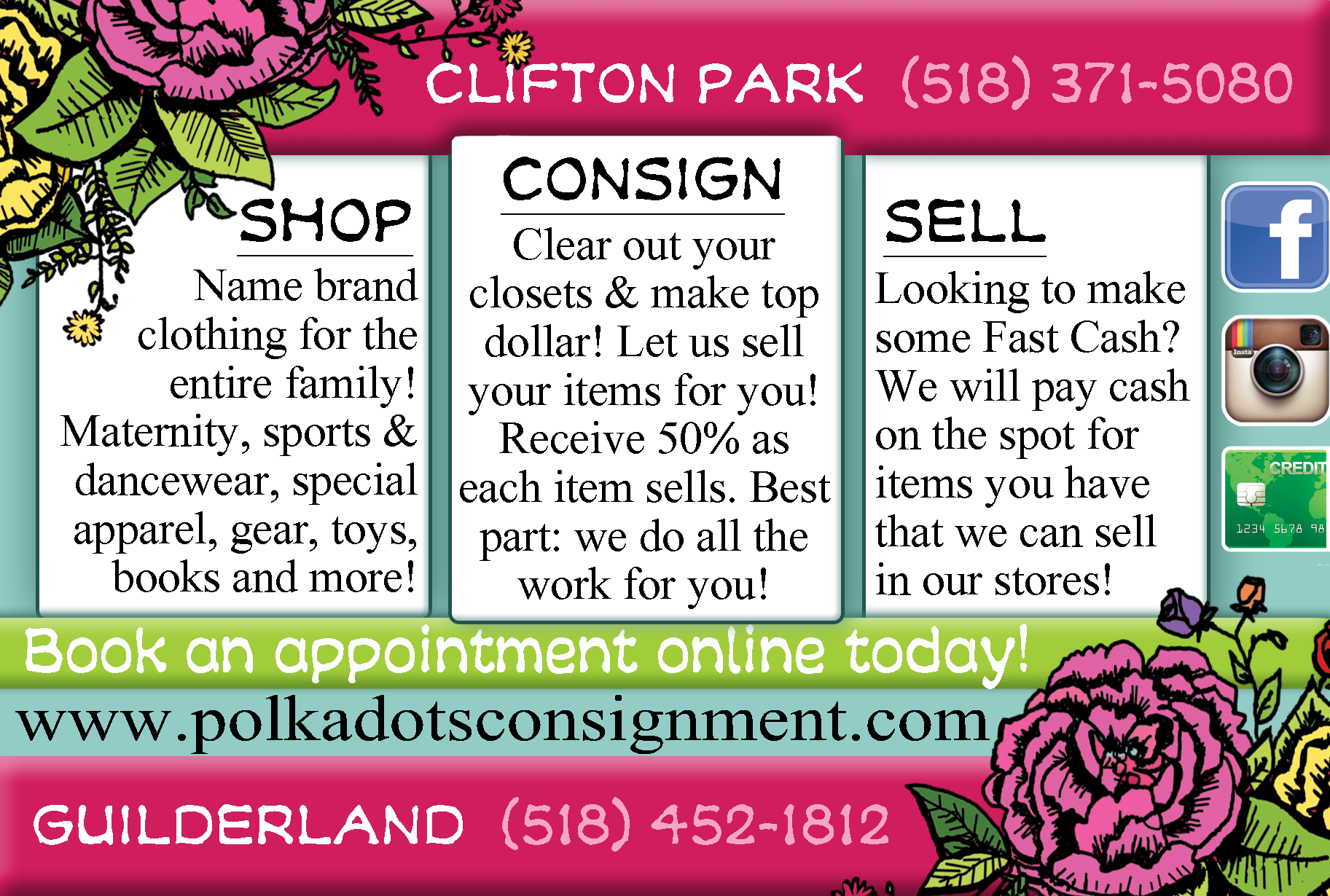 consignment card