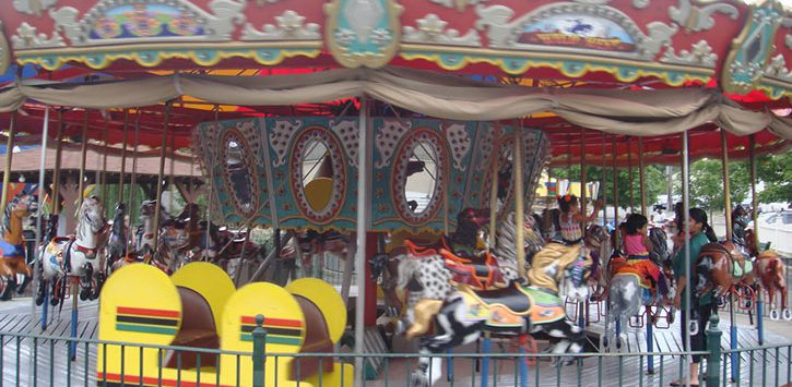 carousel at hoffman's playland