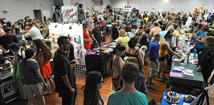 crowd of people at VegFest