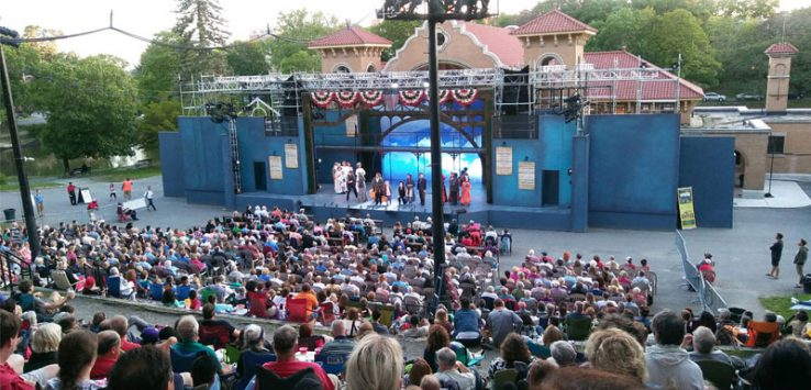 crowd watches Ragtime at the Park Playhouse