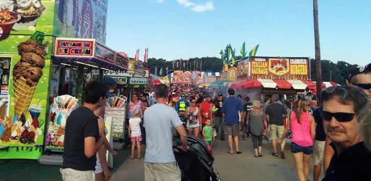 crowd at the fair