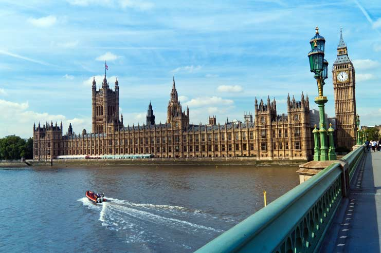 Parliament Building and Elizabeth Tower in London