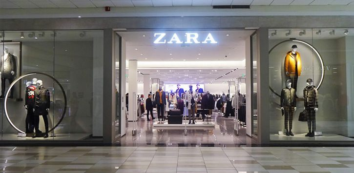 Entrance to Zara at Crossgates Mall
