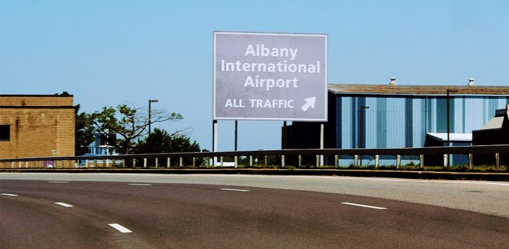 Albany International Airport sign