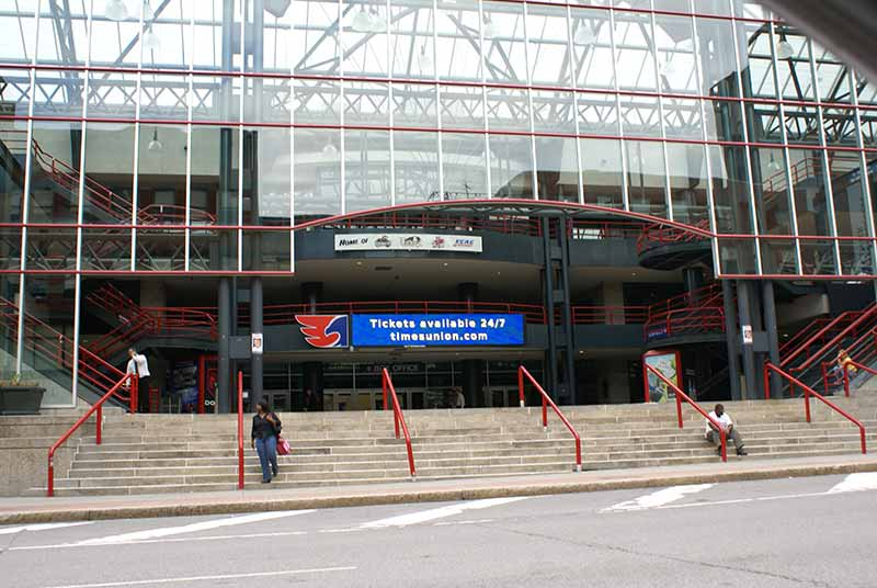 Exterior of the Times Union Center in Albany