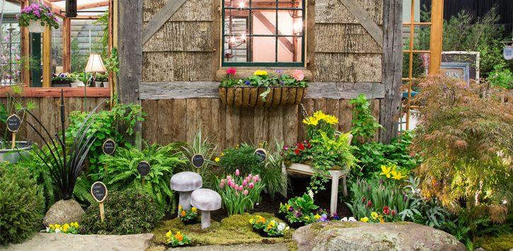 beautiful garden display