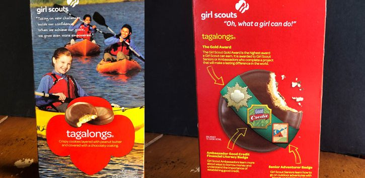 two boxes of Girl Scout cookies