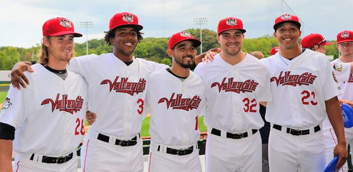 five ValleyCats team members posing together