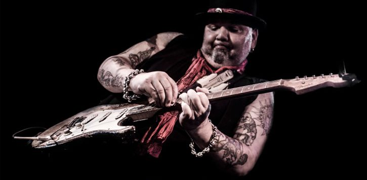 Popa Chubby on guitar