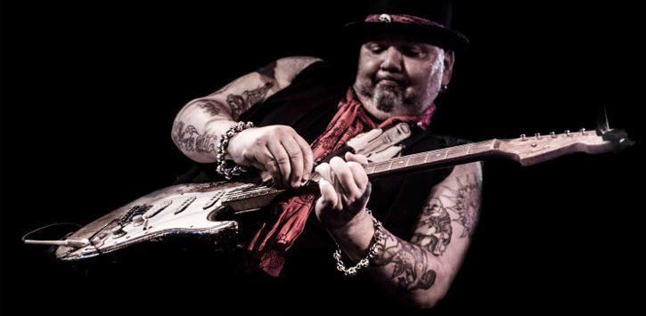 Popa Chubby on guitar
