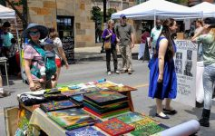 vendors and people at Art on Lark