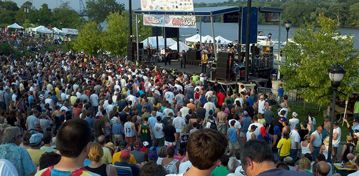 crowd at Alive at Five show