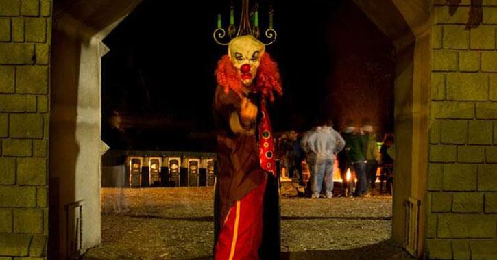 creepy clown beckoning