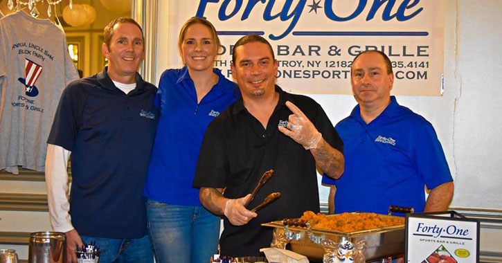 Forty One Bar & Grill celebrating their win