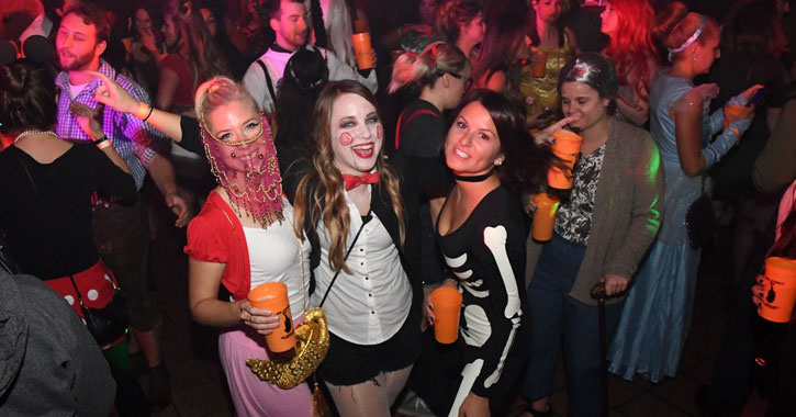 ladies at a Halloween party