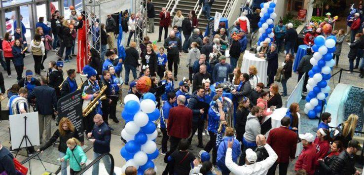 large crowd at fan fest